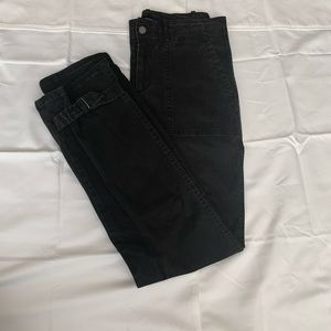 Peruvian Connection Black Cinched Cuff pants